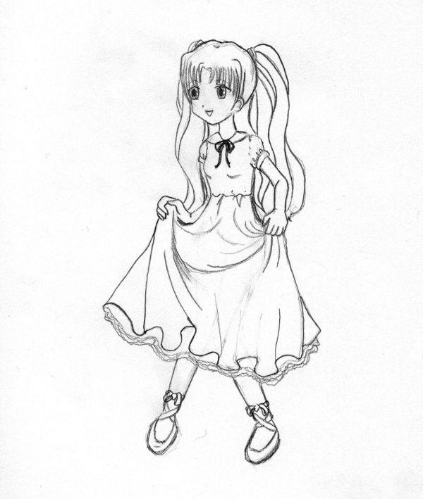 600x709 Little Girl In Dress By Arianasilversnare