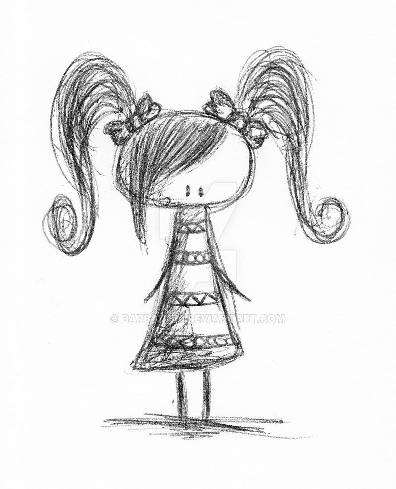 800x988 Little Girl Sketch By Barbara18