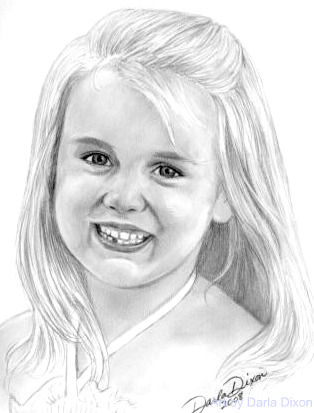 314x413 Pencil Portrait Of A Little Girl (Darla Dixon)