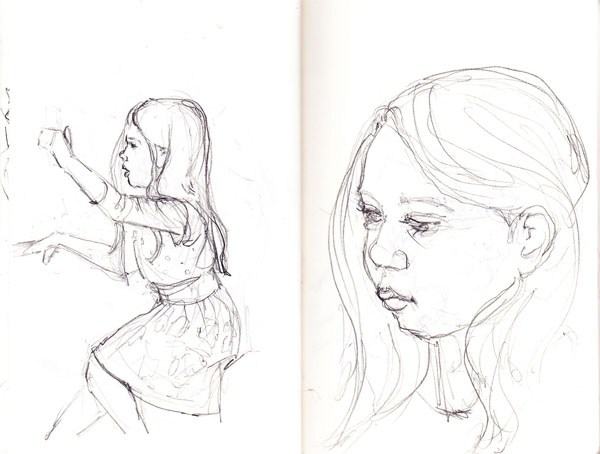 600x454 Drawing Of Little Girl