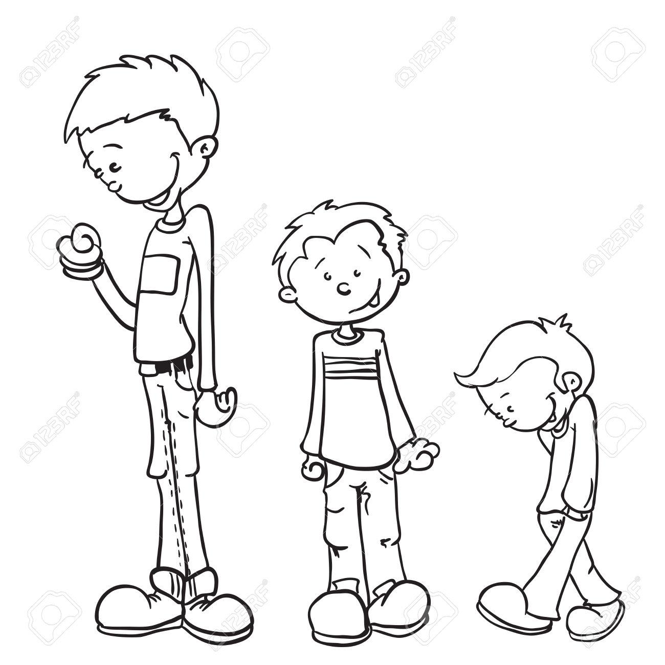 1300x1300 Little Boy Cartoon Drawing Cartoon Drawing Little Boy Black