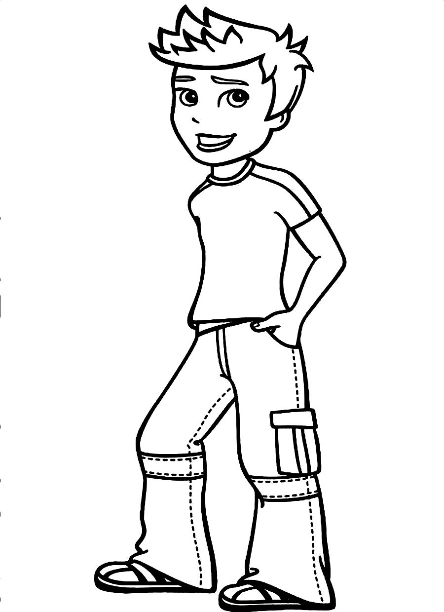 900x1240 Little Boy Coloring Pages In Pretty Draw Printable Coloring