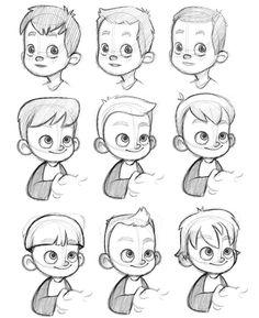 236x289 Drawn Expression Little Boy