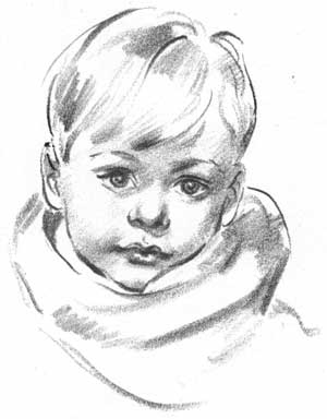 300x384 How To Draw A Portait Of A Young Boy Draw Children