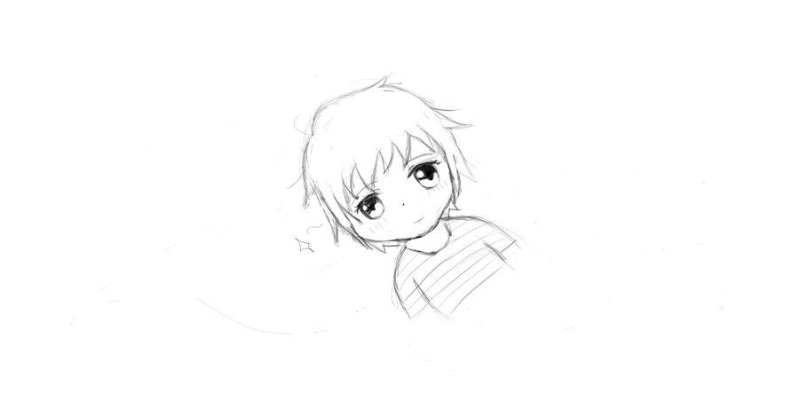 900x452 Little Boy Sketch By Samtheweirdo