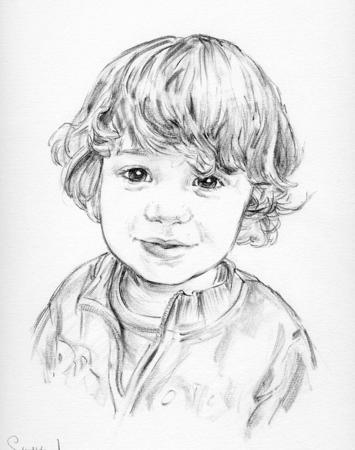 1193x1509 Little Boy Pencil Portraits