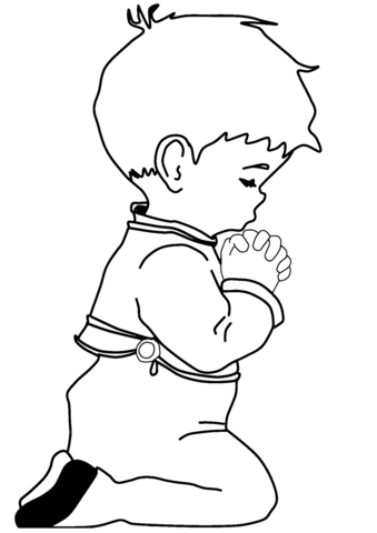 339x480 Praying Little Boy Coloring Page Free Printable Coloring Pages