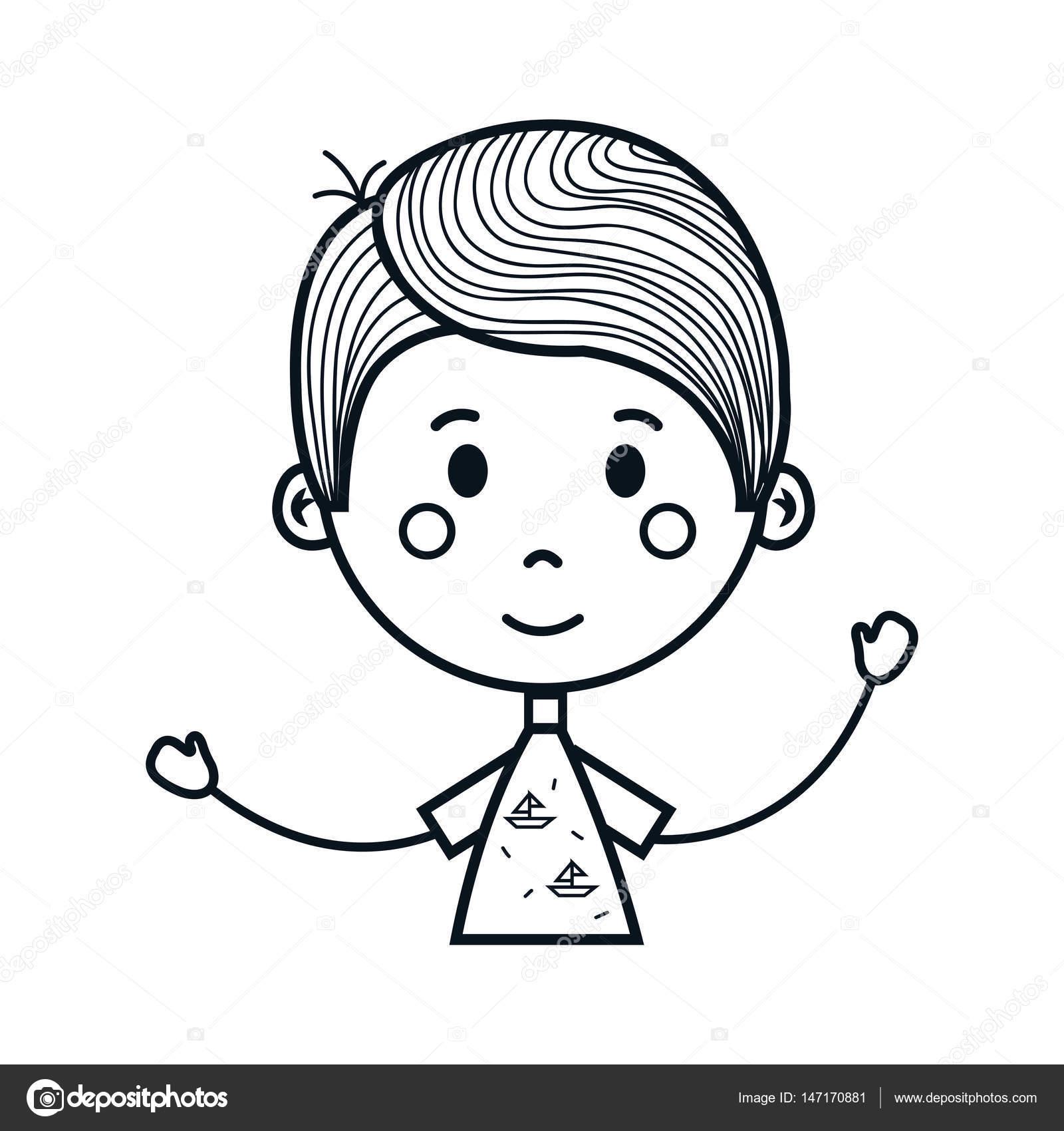 1600x1700 Cute Little Boy Drawing Icon Stock Vector Yupiramos
