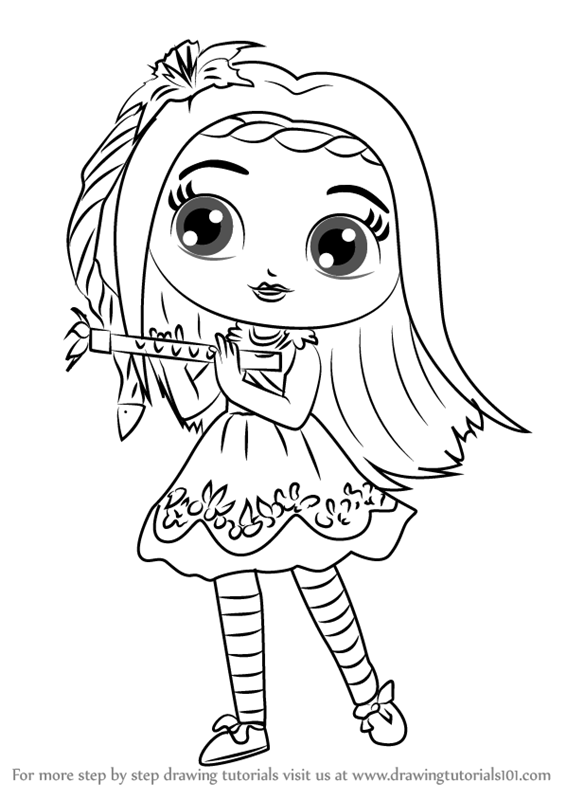566x800 Learn How To Draw Posie From Little Charmers (Little Charmers