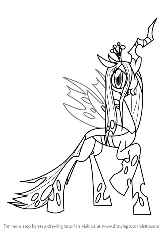 567x800 Learn How To Draw Queen Chrysalis From My Little Pony
