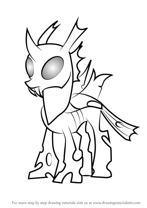 566x800 Learn How To Draw Thorax Mature From My Little Pony