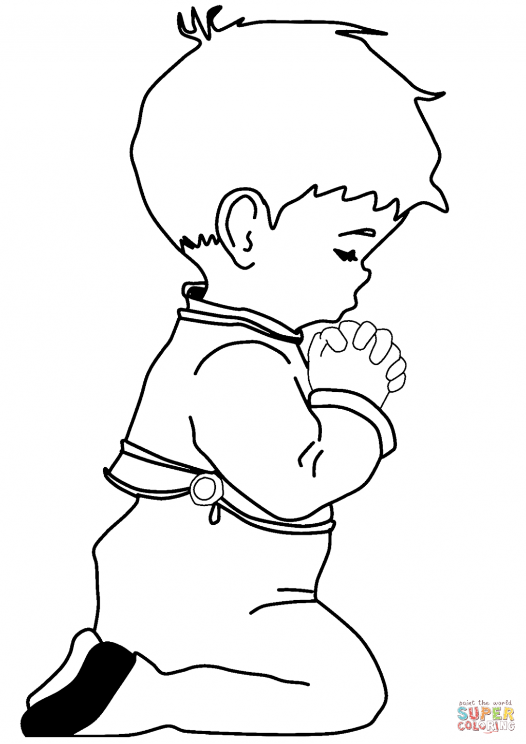 1024x1449 Adult ~ Praying Little Boy Coloring Page Printable Pages Click