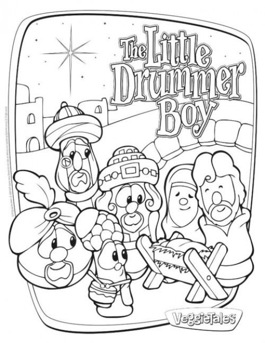 520x673 The Little Drummer Boy Printables Drummer Boy, Veggietales