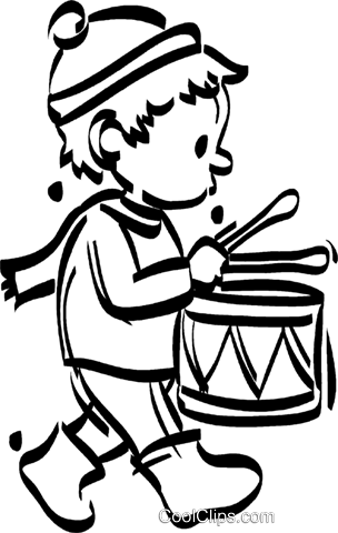 304x480 Little Drummer Boy Royalty Free Vector Clip Art Illustration