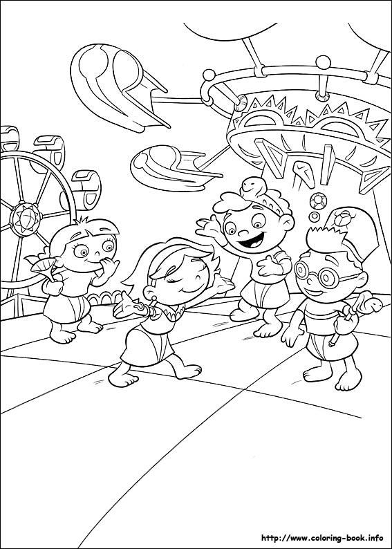 567x794 Einsteins Coloring Picture