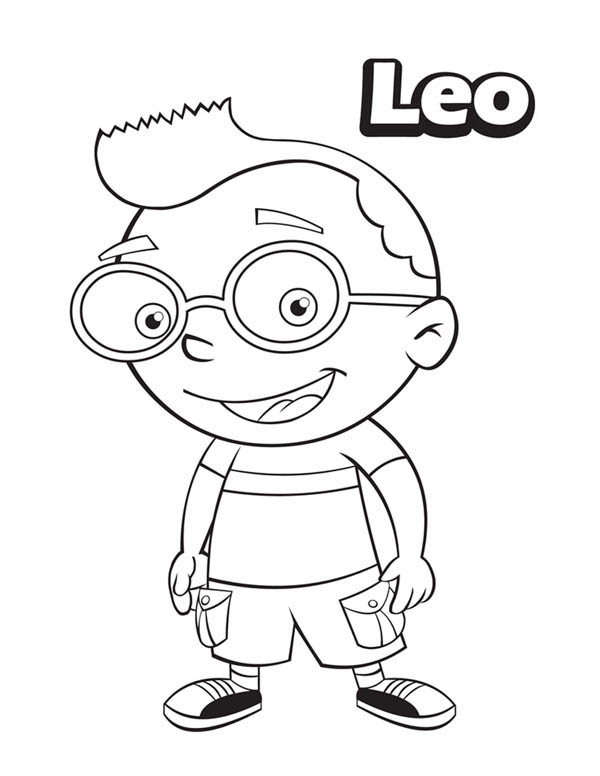 600x776 Leo From Little Einsteins Coloring Page