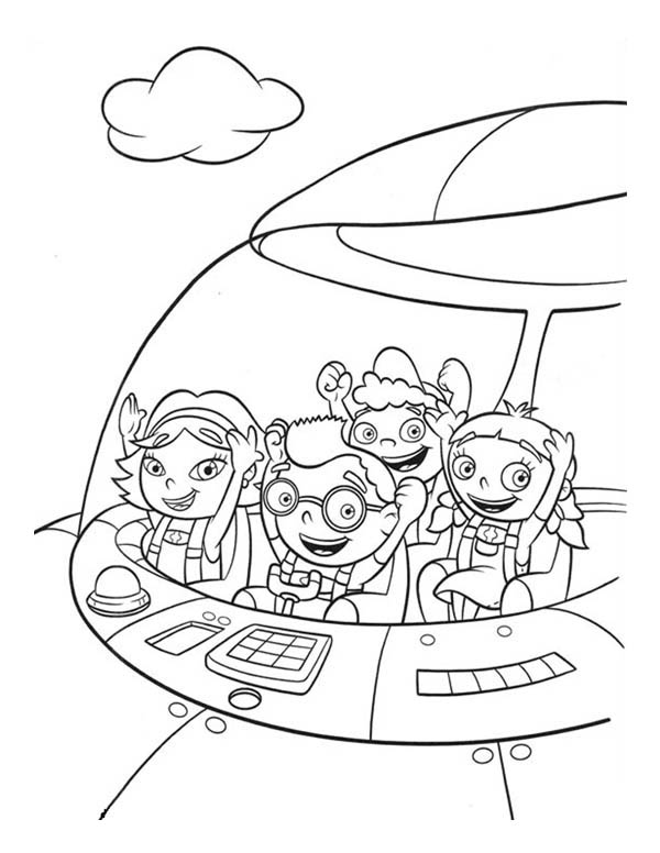 600x776 Quincy Leo Annie And June In Little Einsteins Rocket Coloring Page