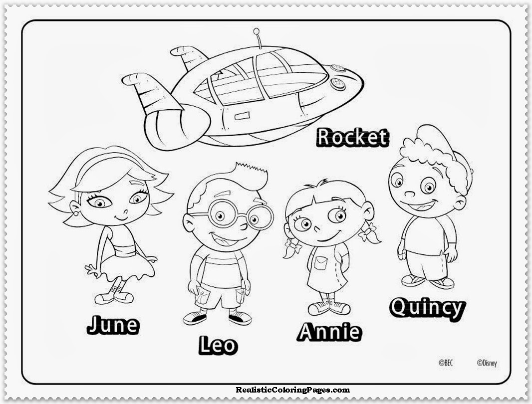 1066x810 Coloring Pages Little Einsteins