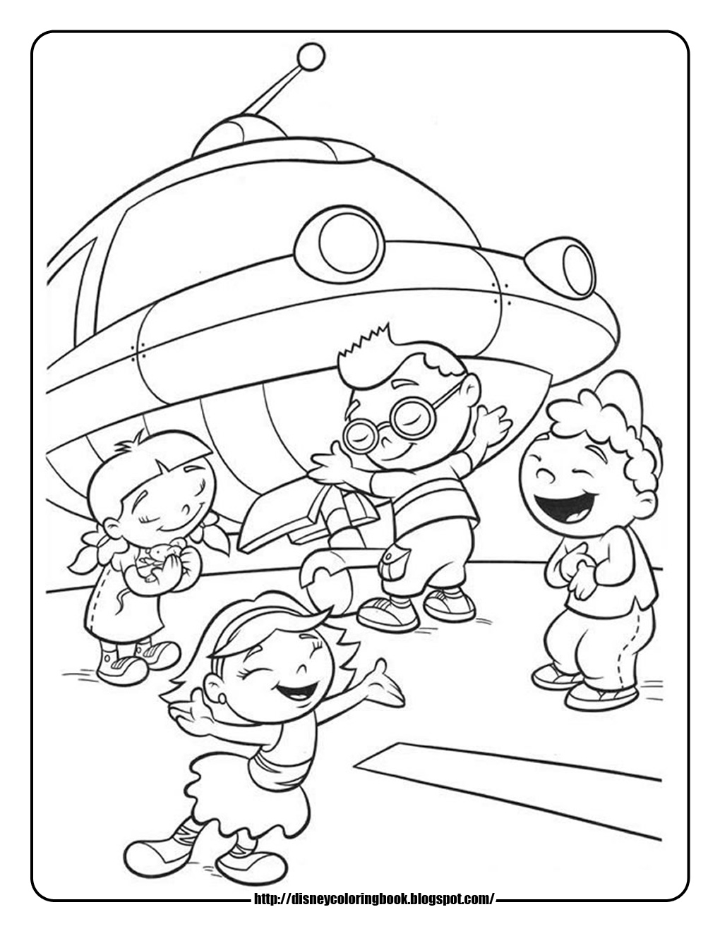 1020x1320 Disney Coloring Pages And Sheets For Kids Little Einsteins 4