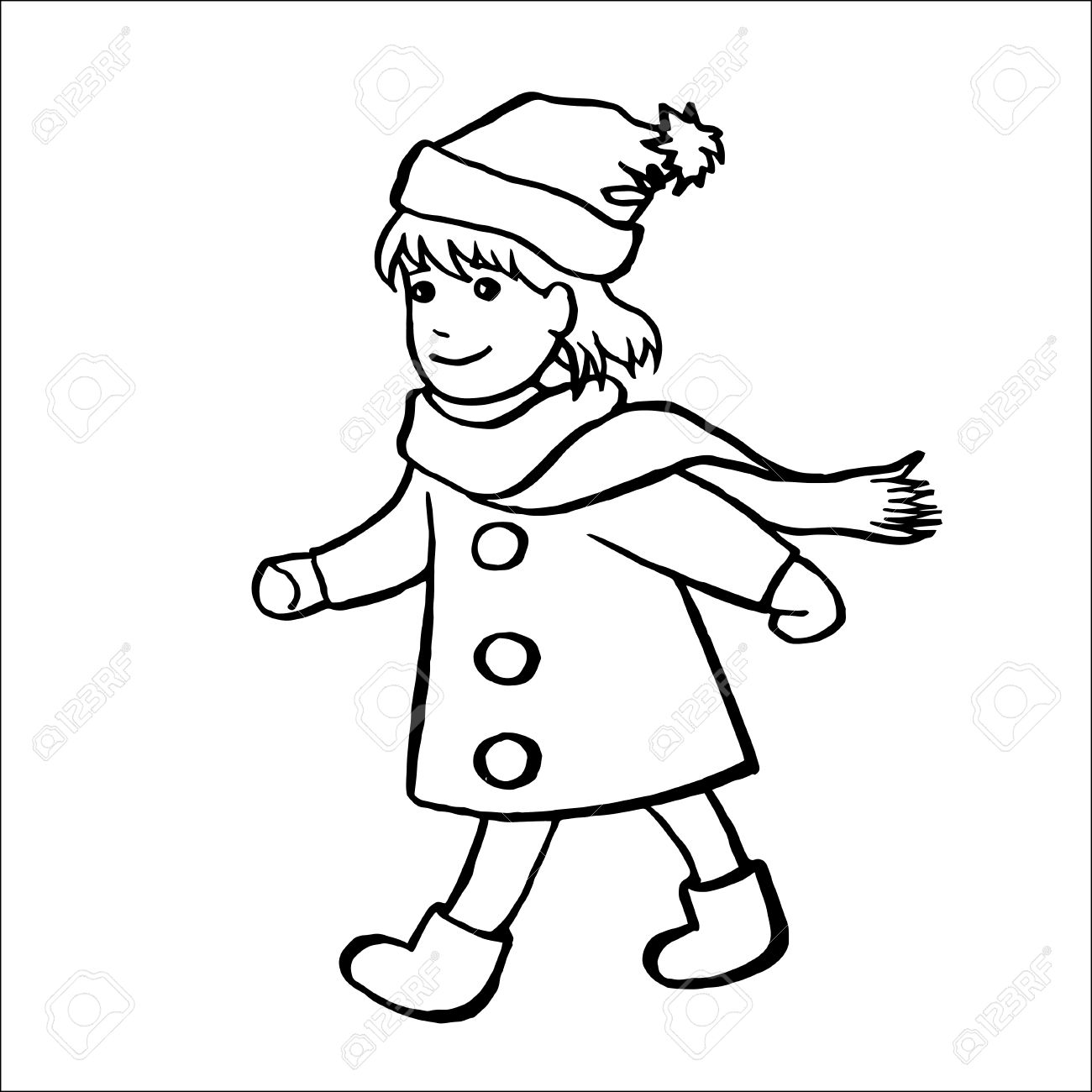 1300x1300 Drawn Little Girl Little Kid