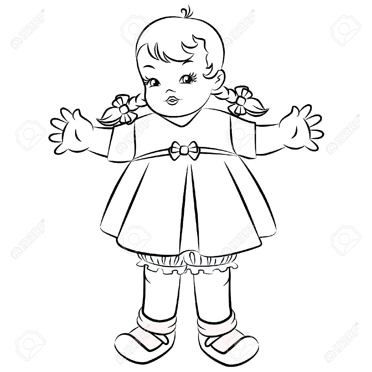 1300x1300 Little Girl Cartoon Drawing