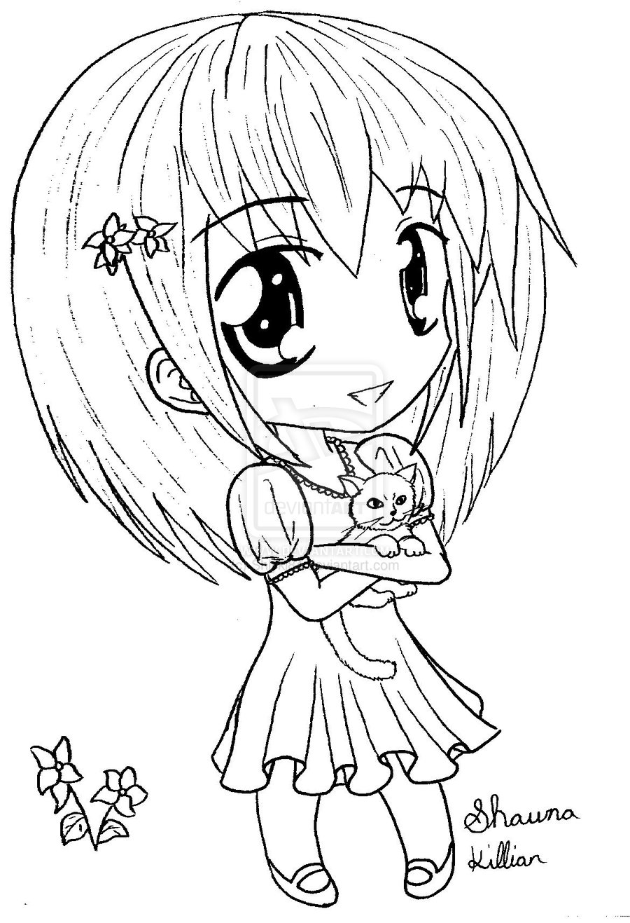 900x1317 Cartoon Drawing Of A Little Girl Archives