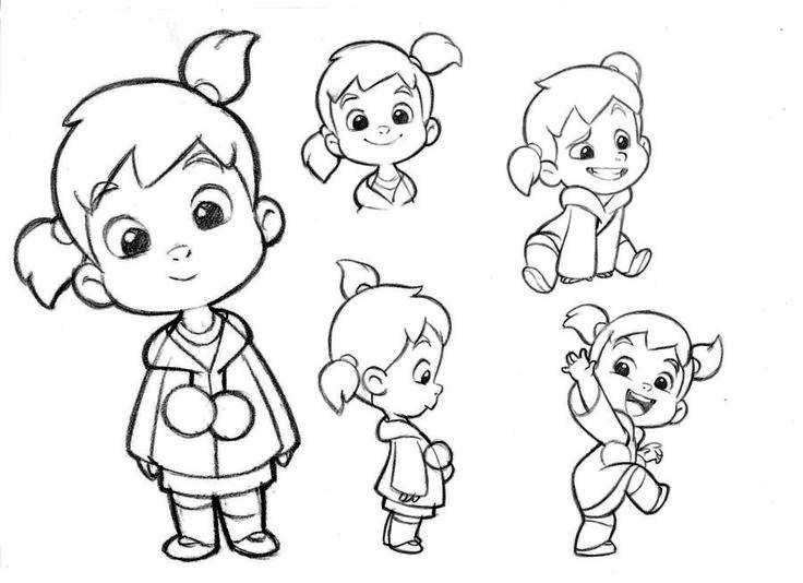 736x534 Drawings Of Cartoon Little Girls 15 Cartoon