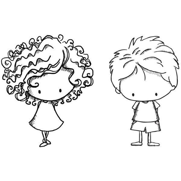 600x600 Gallery Simple Drawing Of Girl And Boys,