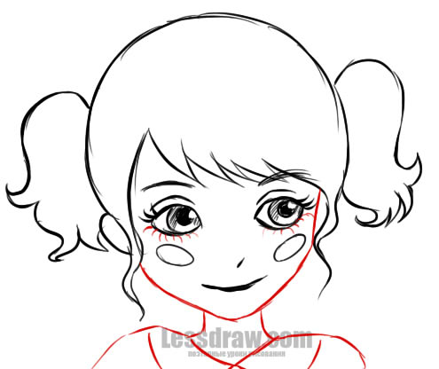 495x416 how to draw a little girl step by step lessdraw