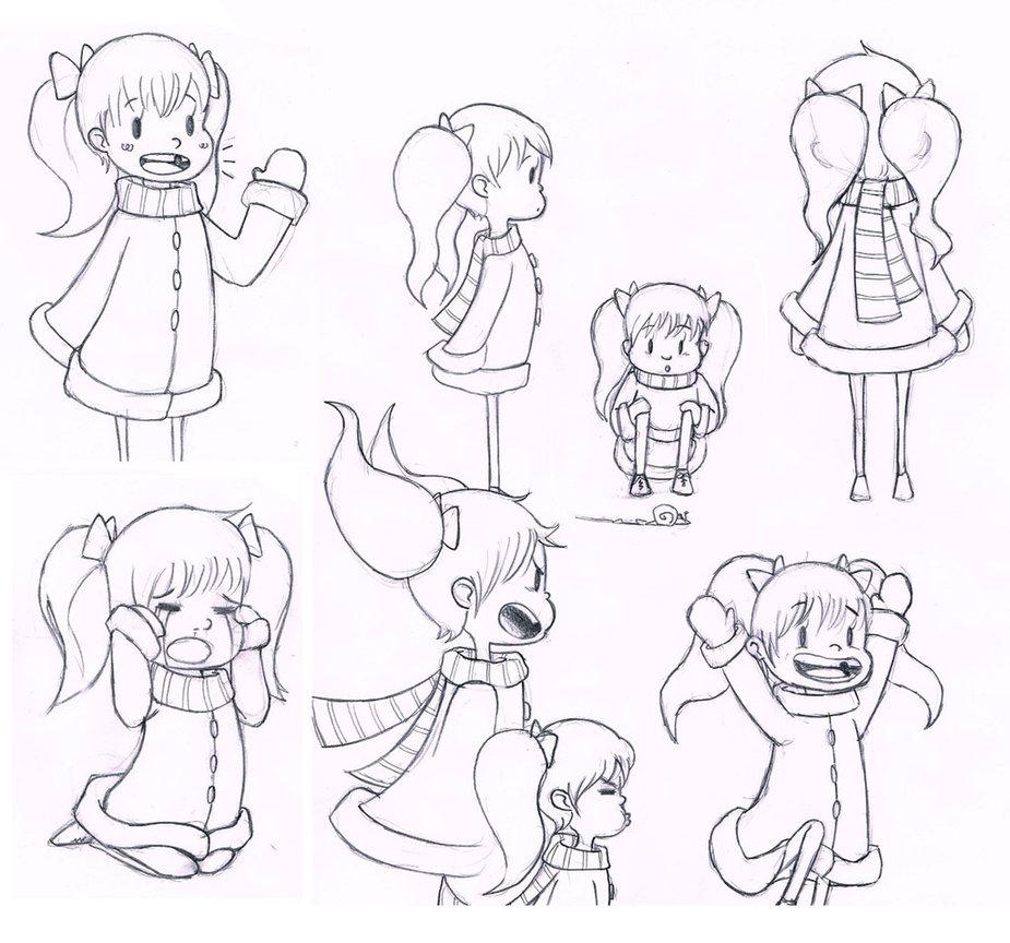 925x864 Photos Little Girl Sketches,