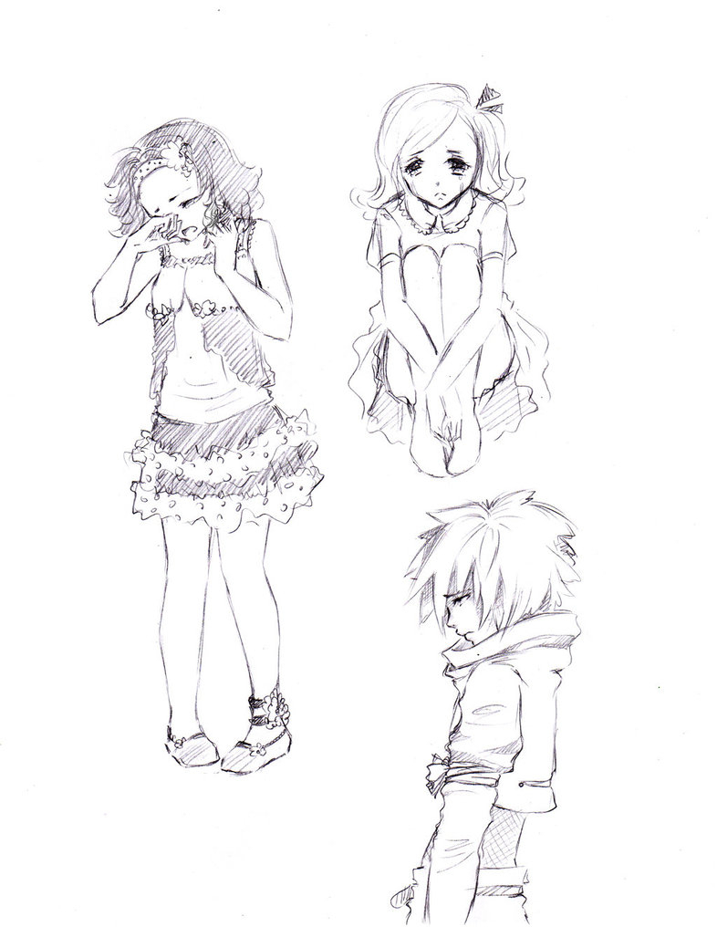786x1016 Sketch Of Boy N Girl Crying Together Best Little Girl Drawing