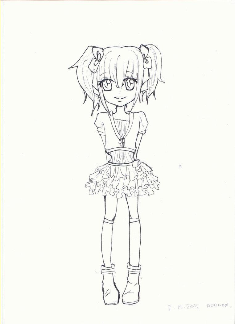 762x1049 Lineart Little Girl By Luluchwan