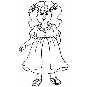 300x300 Little Girl In Christmas Dress Printable Free