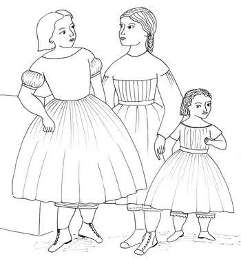 350x376 Time Traveling In Costume Little Girls Civil War Dresses