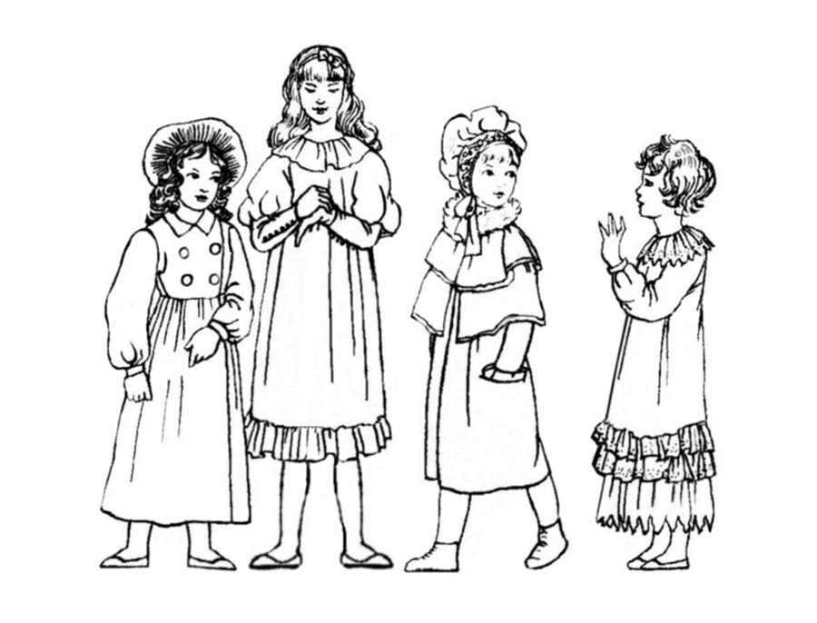 900x686 Little Girls Dresses 1800'S