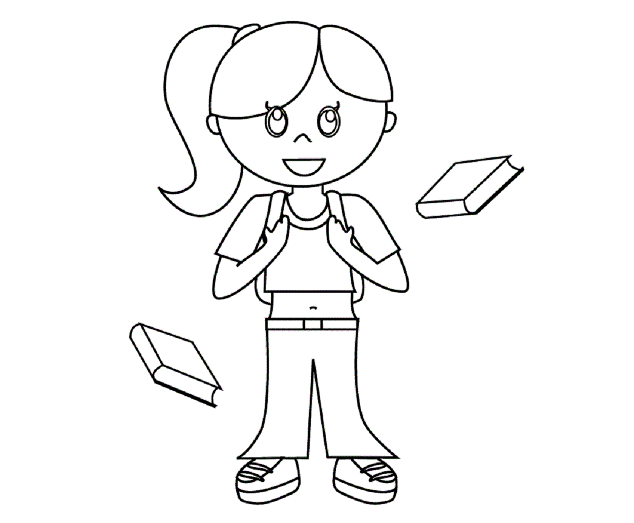 Line Drawing Little Girl : Little girl line drawing at getdrawings free for
