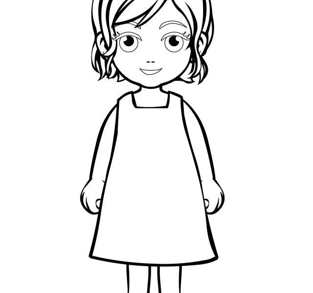 640x600 Little Girl Coloring Pages Little Girl Coloring Pages Daughter