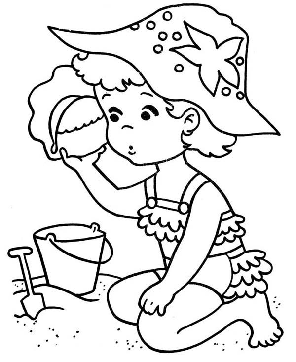 Little Girl Line Drawing At Getdrawings Com Free For Personal Use