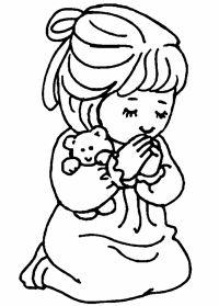 Little Girl Praying Drawing