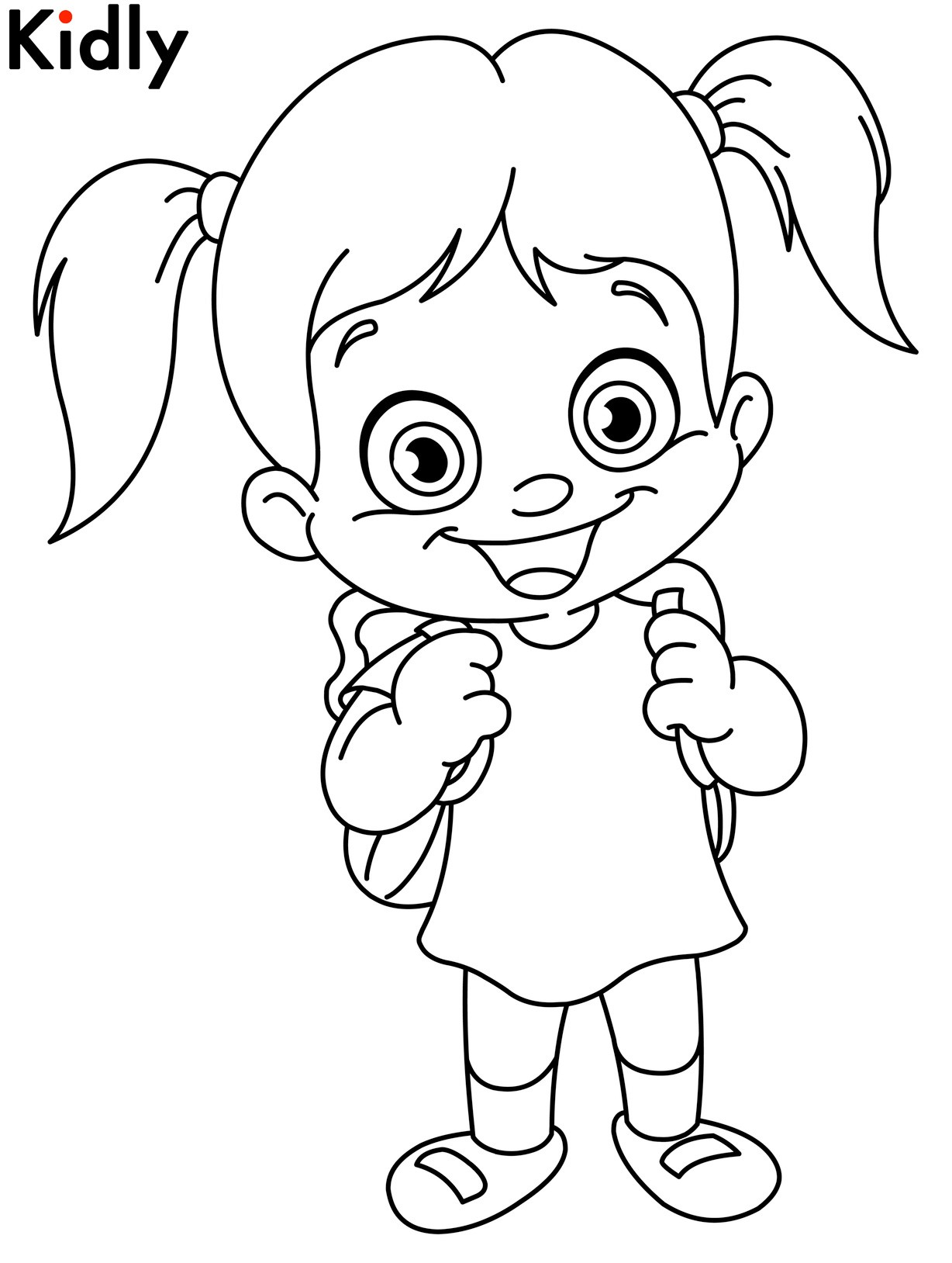 1228x1628 Coloring Page Of A Girl Wallpapers