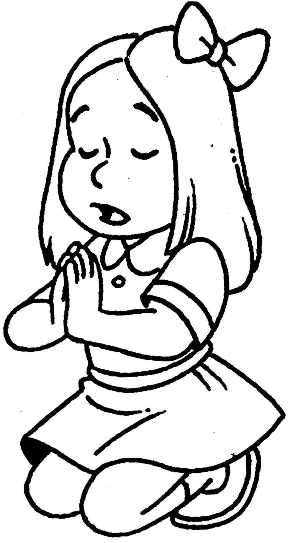 Little Girl Praying Drawing at GetDrawings.com | Free for personal ...