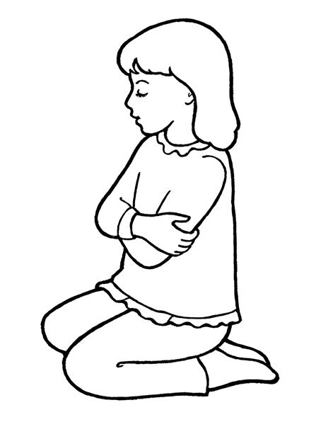447x596 Small Girl Kneeling