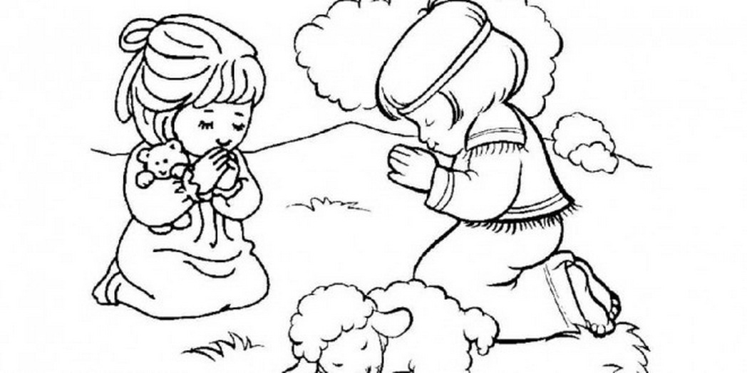 1048x524 Little Girl Praying Coloring Page 537616 Coloring Pages For Free