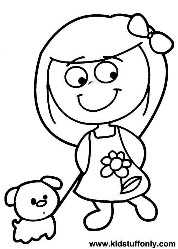 567x794 Little Girl Coloring Pages Terrific Little Girl Coloring Pages 80