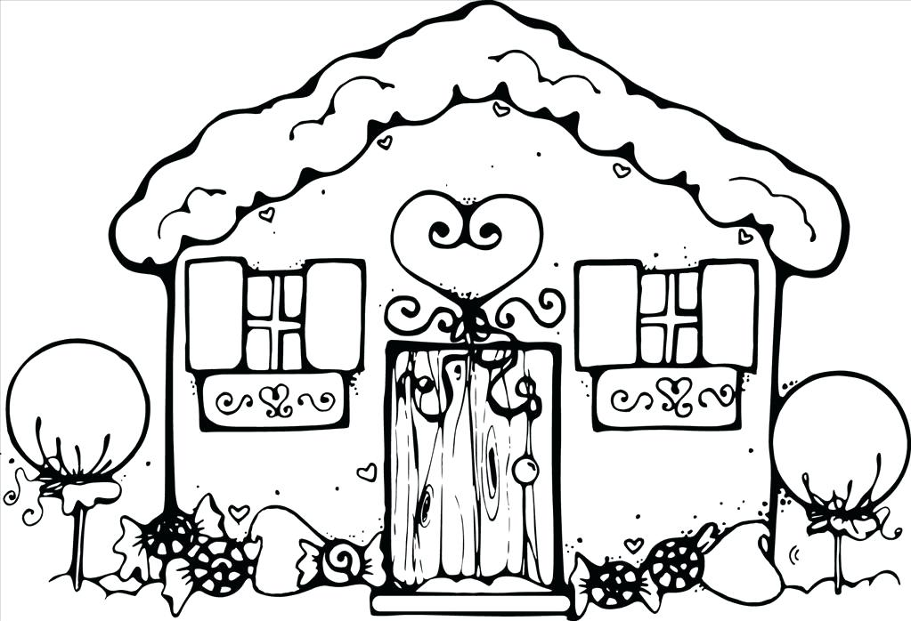 1023x698 House Coloring Book Plus Little House 55