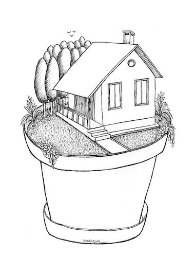 378x500 Little House By Ercan Baysal Nature Cartoon Toonpool