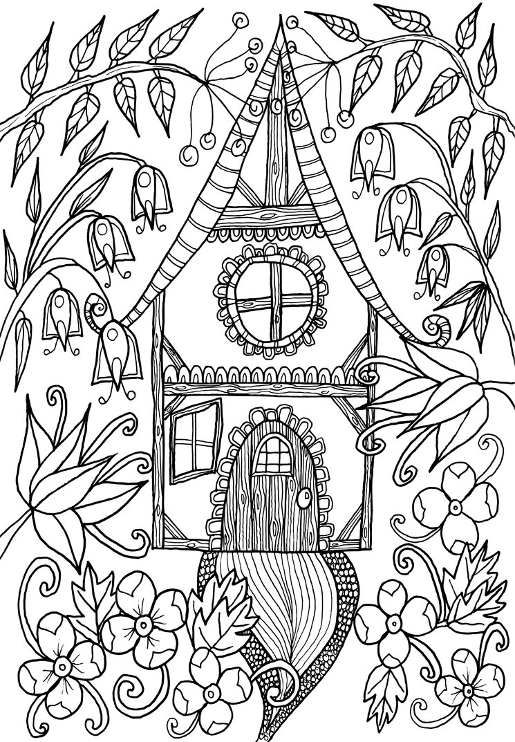 745x1073 Little House By Welshpixie