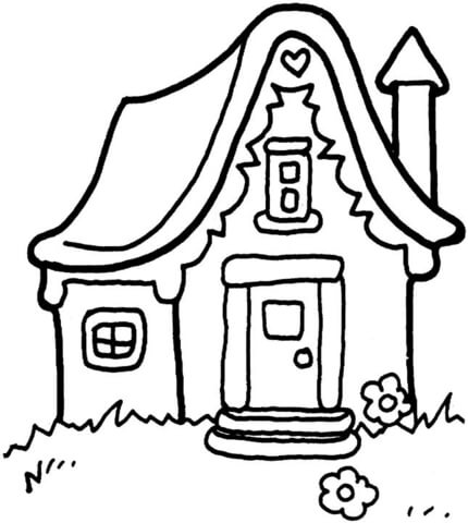 430x480 Little House Coloring Page Free Printable Pages