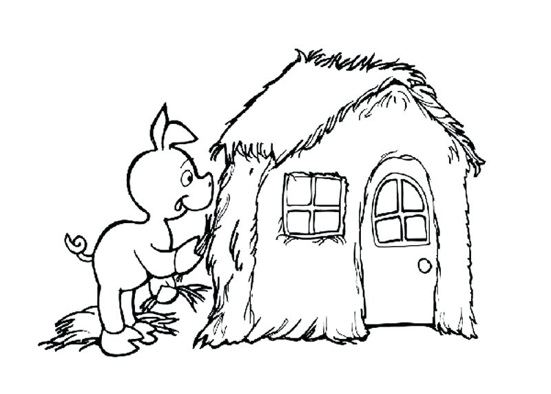 800x572 Peppa Pig House Coloring Pages
