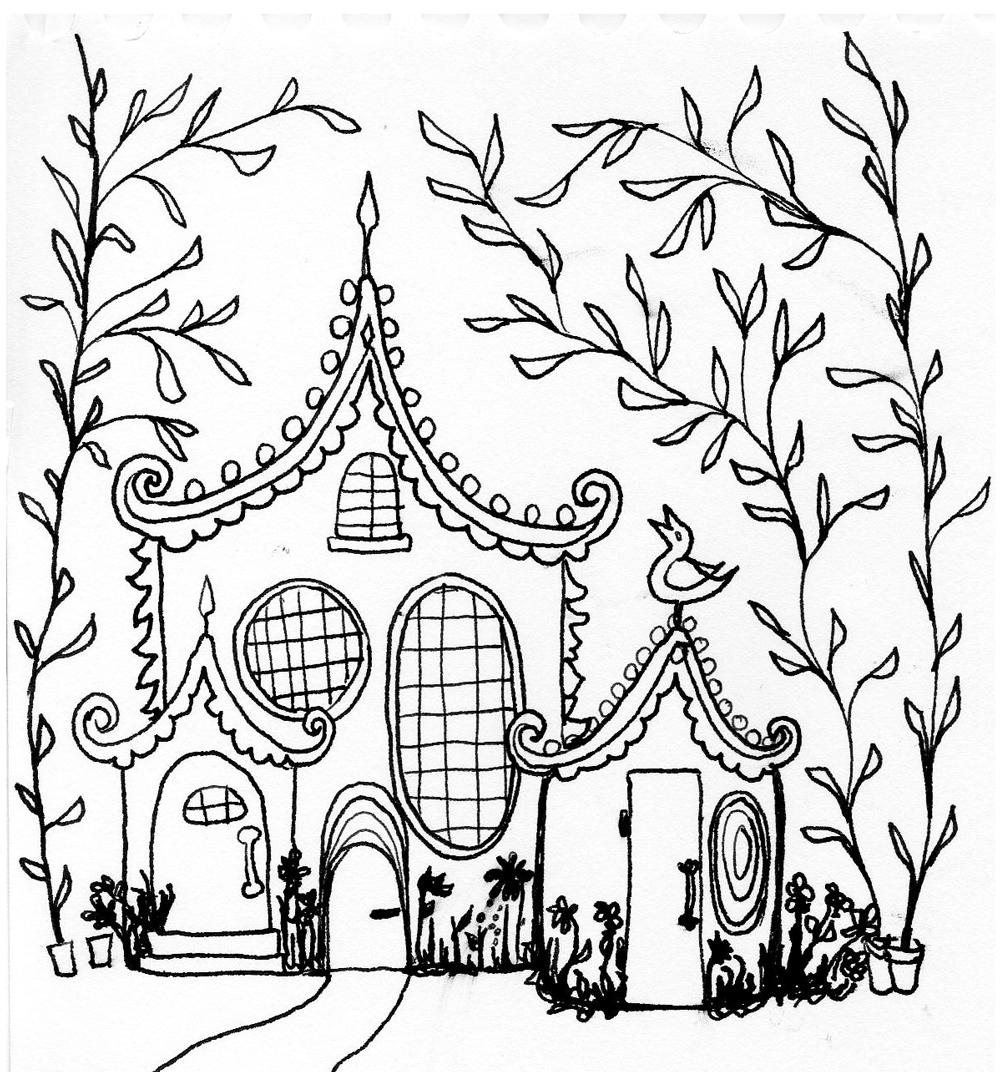 1000x1072 Sketchbook By Kendra Shedenhelm Little House Sketch